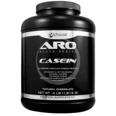 ARO-Vitacost Black Series Casein Natural Chocolate -- 4 lb (1816 g)