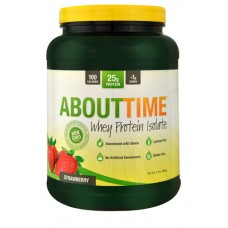 About Time Whey Protein Isolate Strawberry -- 2 lbs