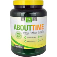 About Time Whey Protein Isolate Unflavored -- 2 lbs