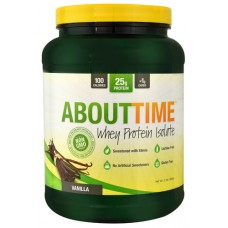 About Time Whey Protein Isolate Vanilla -- 2 lbs