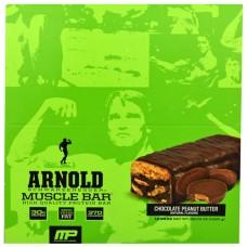 Arnold Schwarzenegger Series Muscle Bar Chocolate Peanut Butter -- 12 Bars