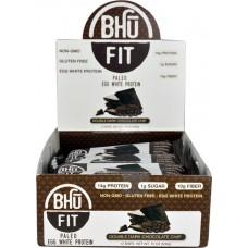 BHU Fit Paleo Egg White Protein Bar Double Dark Chocolate Chip -- 12 Bars