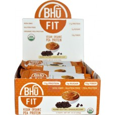 BHU Fit Vegan Organic Pea Protein Bar Peanut Butter Chocolate Chip -- 12 Bars