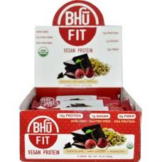 BHU Fit Vegan Protein Bar ChocolateTart Cherry Pistachio -- 12 Bars