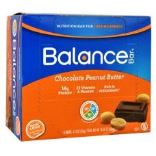 Balance Bar Nutrition Bar Chocolate Peanut Butter -- 6 Bars