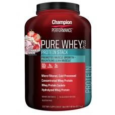 Champion Nutrition Pure Whey® Plus Strawberry Sundae -- 4.8 lbs