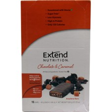 ExtendSnacks ExtendBar® Chocolate & Caramel -- 15 Bars