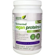 Genuine Health Fermented Vegan Proteins plus Digestive Support Unsweetened Unflavored -- 26 Servings