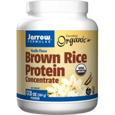 Jarrow Formulas Organic Brown Rice Protein Concentrate Vanilla -- 17.8 oz