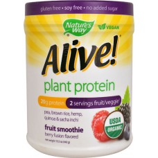 Nature's Way Alive!® Plant Protein Organic Fruit Smoothie Berry Fusion -- 15.5 oz