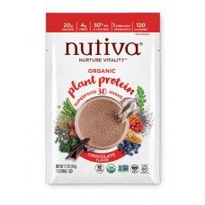Nutiva Organic Plant Protein Superfood 30 Shake Chocolate -- 10 Packets