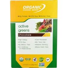 Organic Food Bar Active Greens Chocolate -- 12 Bars