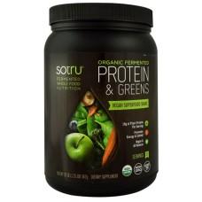 SoTru Organic Fermented Protein & Greens -- 21 Servings
