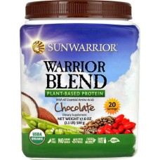 Sunwarrior Warrior Blend Plant-Based Protein Chocolate -- 1.1 lbs