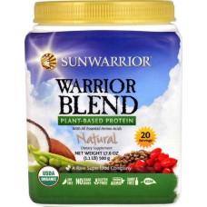 Sunwarrior Warrior Blend Plant-Based Protein Natural -- 1.1 lbs