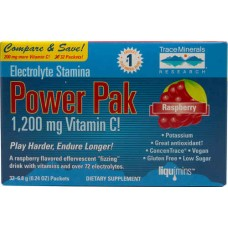 Trace Minerals Research Electrolyte Stamina Power Pak Raspberry -- 32 Packets