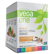 Vega One Plant-Based All-in-One Nutritional Powder Coconut Almond -- 10 Packets