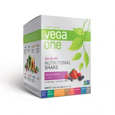Vega One Plant-Based All-in-One Nutritional Powder Mixed Berry -- 10 Packets