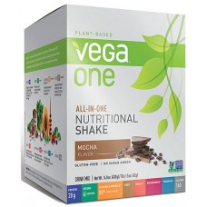 Vega One Plant-Based All-in-One Nutritional Powder Mocha -- 10 Packets