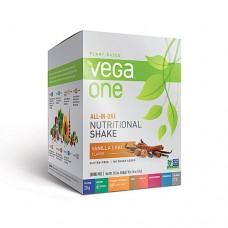 Vega One Plant-Based All-in-One Nutritional Powder Vanilla Chai -- 10 Packs