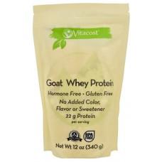 Vitacost Goat Whey Protein - Non-GMO & Gluten Free Unflavored -- 12 oz (340 g)