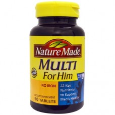 Nature Made Multi For Him Iron Free - 90 Tablets
